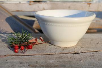 antique ironstone china, small mixing bowl Dresden White Granite early 1900s vintage