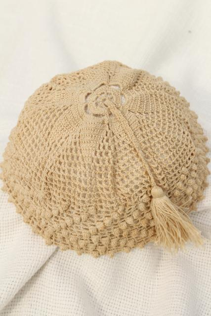 Antique Ladies Night Cap Or Hair Net Cover Early 1900s