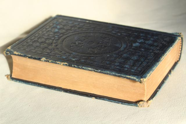 antique leather bound book Men of Our Day, 19th century history Civil War heros