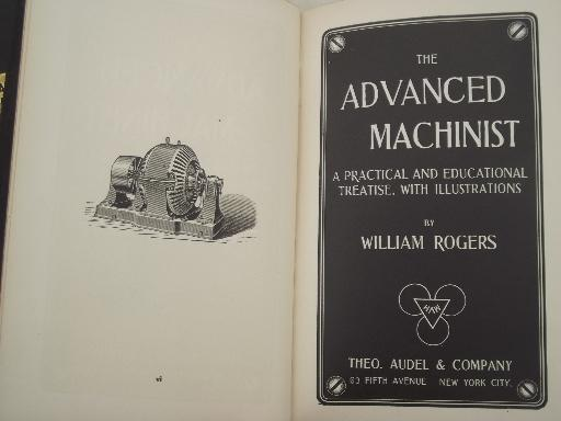 antique machinist books, old technical & drafting handbooks w/illustrations