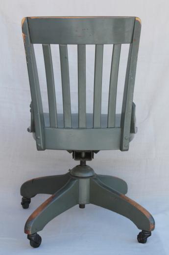 Strange Antique Oak Office Chair Early 1900S Vintage Desk Chair W Uwap Interior Chair Design Uwaporg