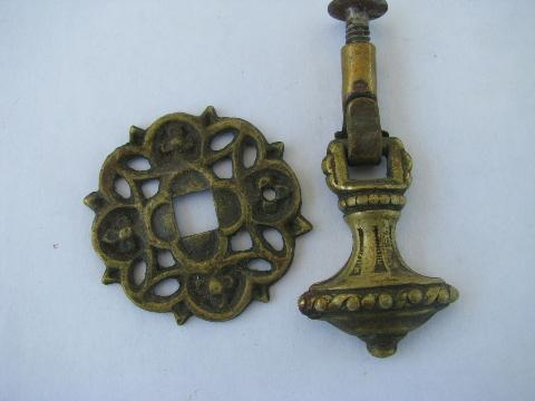 Antique Ornate Teardrop Tel Drawer Pulls Early 1900s Vintage Hardware Lot