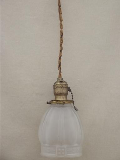 Antique Pendant Light Hubbell Hardware Pull Chain Lamp W