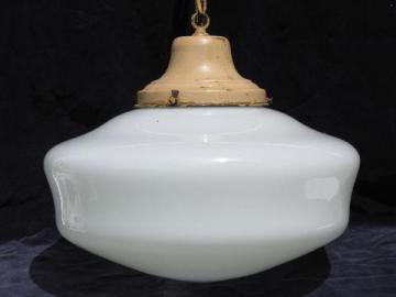 antique pendant light original hardware vintage glass schoolhouse shade & vintage pendant lights u0026 flush mount light fixtures azcodes.com
