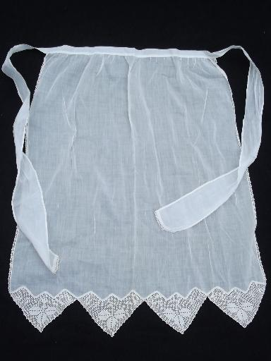 antique petticoat and drawers and whitework long apron, vintage whites