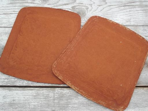 - Antique Pressed Fiber Chair Seats Set New Old Stock Seat Replacements