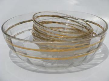 antique pressed pattern glass berry bowls set, gold wedding band EAPG