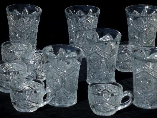 Antique Pressed Pattern Glass Tumbler Glasses Amp Punch Cups