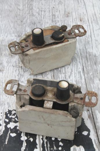 Antique Push Button Light Switches Lot Of 7 Architectural