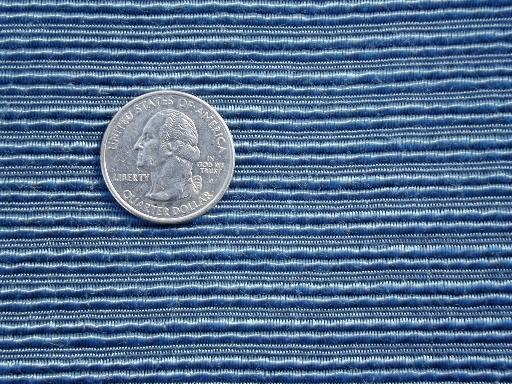 antique rayon corde fabric, silky peacock blue heavy cord texture fabric