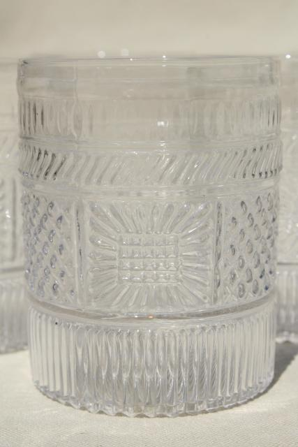 Antique Reproduction Sandwich Glass Tumblers Clear