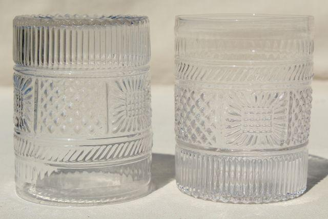 Antique Reproduction Sandwich Glass Tumblers Clear