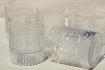antique reproduction Sandwich glass tumblers, clear pressed pattern glasses Metropolitan Museum of Art