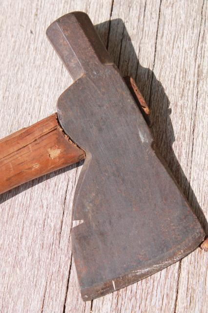 antique roofing hatchet w/ tomahawk head for wood shingles rustic cabin tool