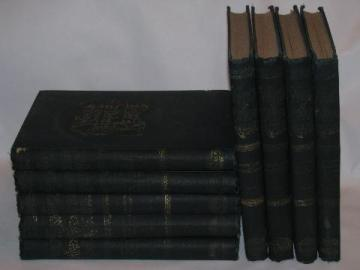 antique set complete works of Charles Reade gilt art bindings