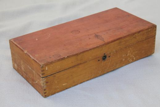 antique sewing thread case, advertising display box for Turkey Red embroidery cotton