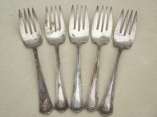 sc 1 st  Laurel Leaf Farm & antique silver plate fish salad forks vintage silverplate flatware