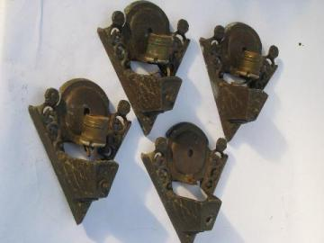 antique slip shade sconce lamps, ornate metal wall mount light fixtures, vintage lighting
