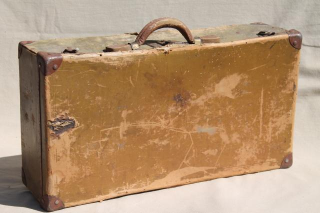 Antique suitcase early 1900s vintage paper cardboard for The vintage suitcase
