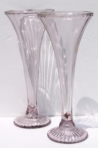 Antique Sun Purple Lavender Glass Shelf Supports Large Pair Of