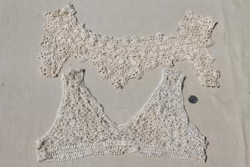 antique tatted lace yokes, lacy collars for Edwardian vintage night gowns & camisoles