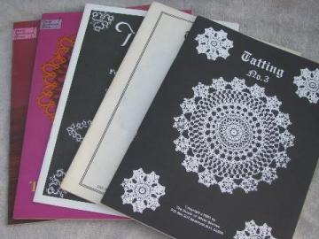 antique tatting patterns, modern reprint books of old lace designs