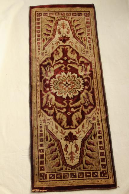 Antique Velvet Table Runner Oriental Rug Print Arts