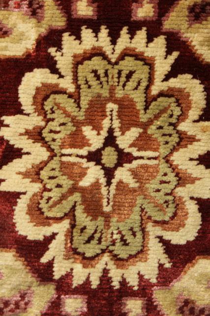 Antique Velvet Table Runner Oriental Rug Print Arts