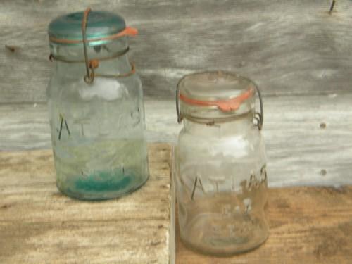 Antique Vintage Atlas E Z Seal Storage Jars Canisters