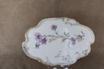 antique vintage French Haviland Limoges china vanity tray for perfume bottles