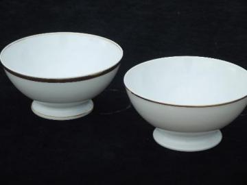 antique vintage French china cafe au lait bowls, Haviland Limoges France