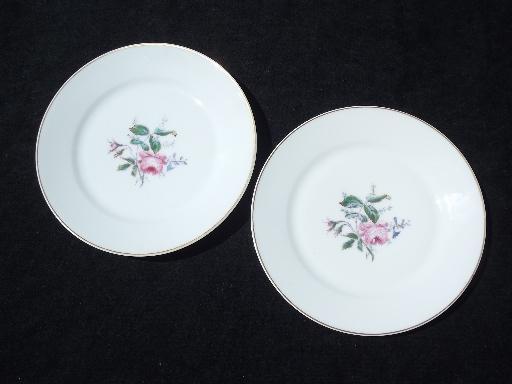Antique Vintage Haviland Limoges China Plates Pink Moss