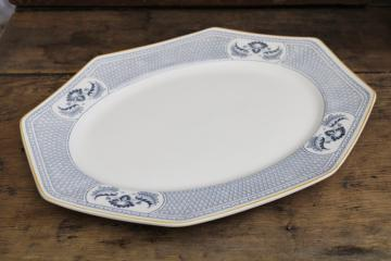 antique vintage Johnson Bros England Albany platter, blue & white (not flow blue)