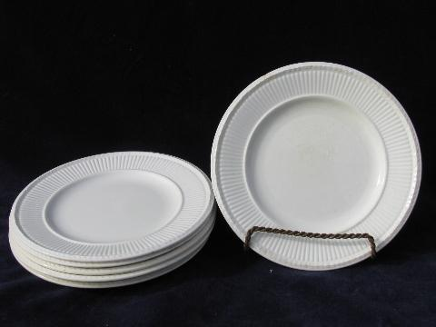 & antique vintage Wedgwood Edme creamware china bread plates