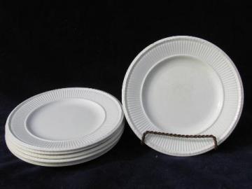 antique vintage Wedgwood Edme creamware china bread plates