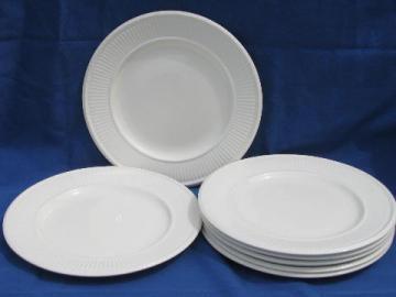 antique vintage Wedgwood Edme plain creamware china salad plates