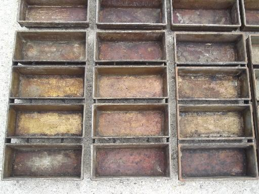 antique vintage bakery kitchen bread loaf baking pans for huge oven