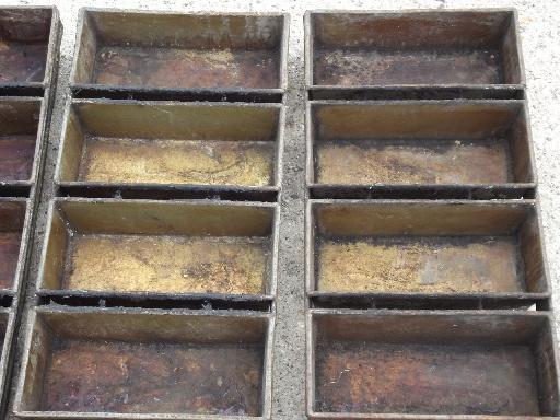 Antique Vintage Bakery Kitchen Bread Loaf Baking Pans For