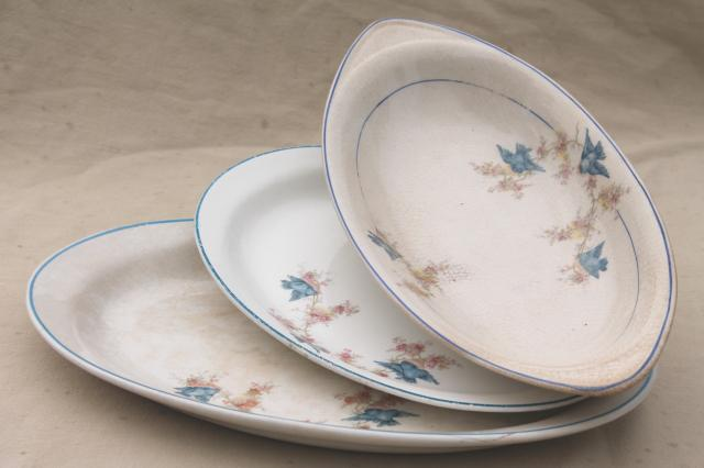 antique vintage bluebird china dishes shabby chic serving platters u0026 plates & antique vintage bluebird china dishes shabby chic serving platters ...