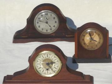 antique vintage camelback mantel clock lot for restoration, repair parts