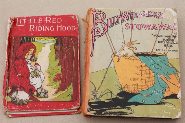 antique vintage children's book lot, 30+ shabby books for art illustrations, crafts, display
