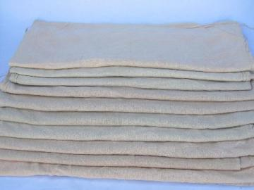 antique vintage cotton feed bags, primitive feedsack fabric grain bag lot