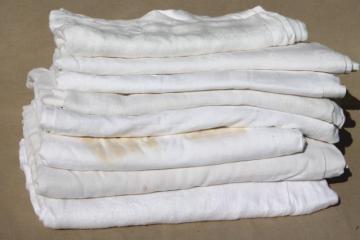 antique & vintage cotton & linen damask tablecloth lot, mismatched table linens