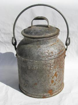 Old Milk Cans Dairy Pails Cheese