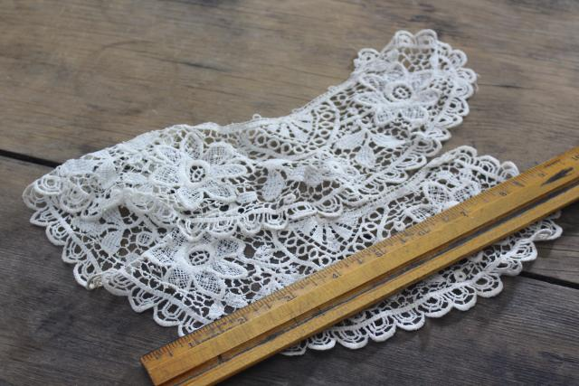 antique vintage embroidered needle lace collars, button hole stitching & embroidery