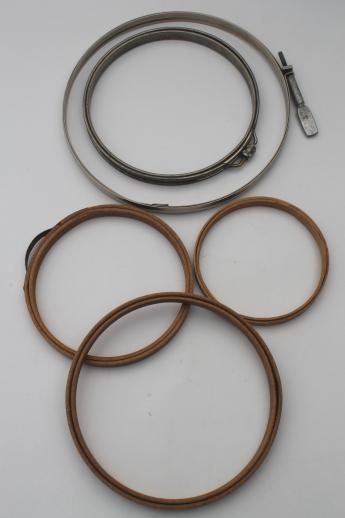 antique & vintage embroidery hoops, metal & bentwood needlework hoop ...