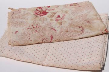 antique vintage fabric lot, cotton lawn, fine sheer voile, light and gauzy