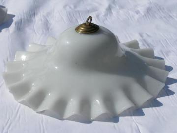 antique vintage glass smoke bell shade for old oil or kerosene lamp