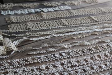 Vintage Crochet PATTERN to make Three Elegant Wide Lace Edging Design Insertion