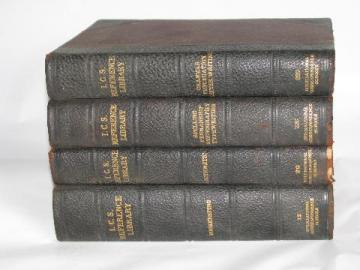 antique vintage homeschool education library, penmanship, spelling, bookkeeping & more, 4 volumes